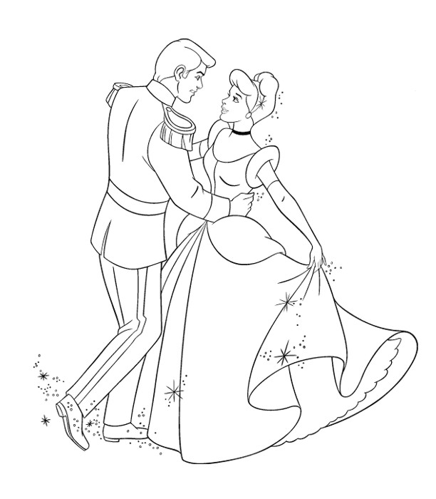Coloriages princesses disney for Disegni da colorare cenerentola